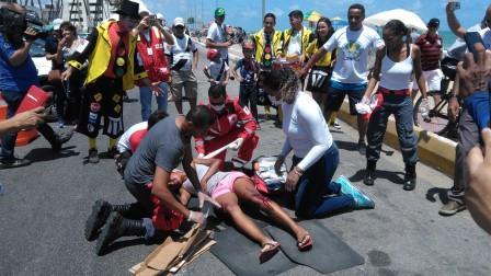 Acidentes simulados em Natal marcam Dia Mundial em Memória às Vítimas de Acidentes de Trânsito