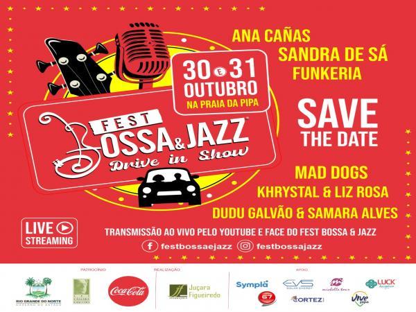 Pipa-RN recebe Fest Bossa & Jazz Drive In Show no final de outubro