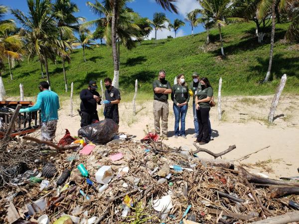 Operação Lixo nas Praias: PF, CPRH e Idema visitam municípios afetados