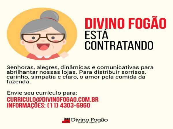 Divino Fogão aposta em contratações de pessoas da terceira idade