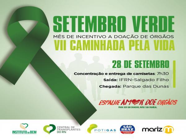 Doação de Órgãos: Instituto do Bempromove ações, campanha e caminhada de conscientização para marcar Dia Nacional