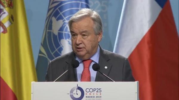Economia verde é oportunidade que precisa ser aproveitada pelos países, diz chefe da ONU na COP25