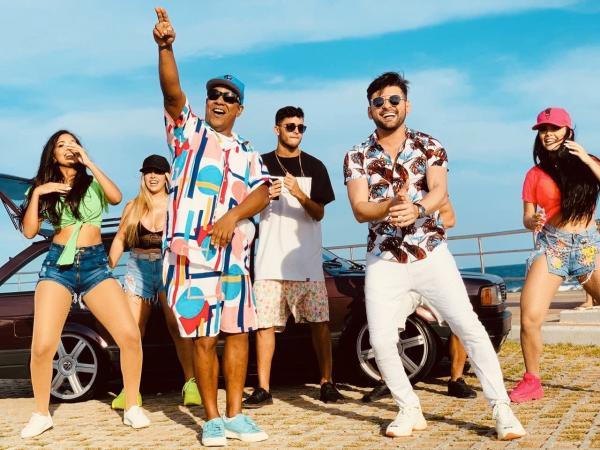 Com Psirico, Pedrinho Pegação grava clipe de seu novo single em Salvador