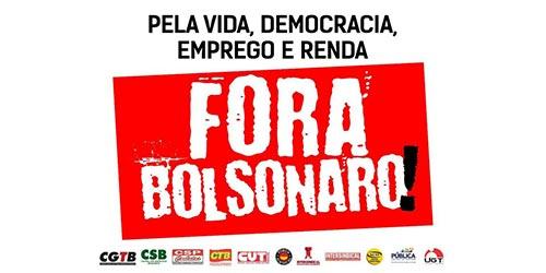 Centrais sindicais lançam campanha #ForaBolsonaro