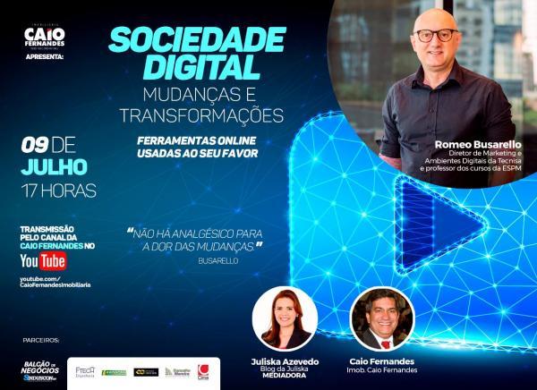 Vida digital: evento gratuito da Caio Fernandes traz especialista com experiência internacional para falar das transformações nas empresas, famílias e carreiras